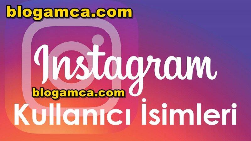instagram sayfa isimleri 2020